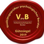 Gütesiegel des Verbandes VpsyB 2019