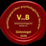 Gütesiegel des Verbandes VpsyB 2020